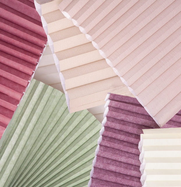 Honeycomb shades are available in a variety of colors to perfectly fit your space.